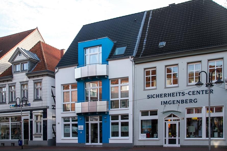 Schließen einer Baulücke zwischen zwei historischen Gebäuden in der Hammer Innenstadt.